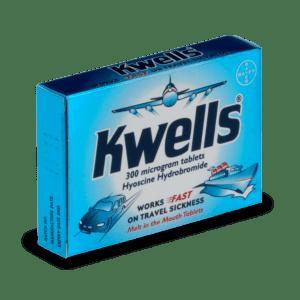Boite de comprimés Kwells