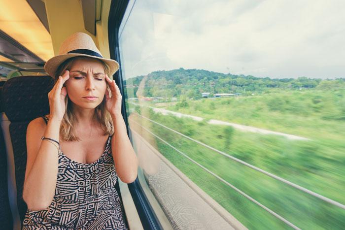 maux de tête dans les transports