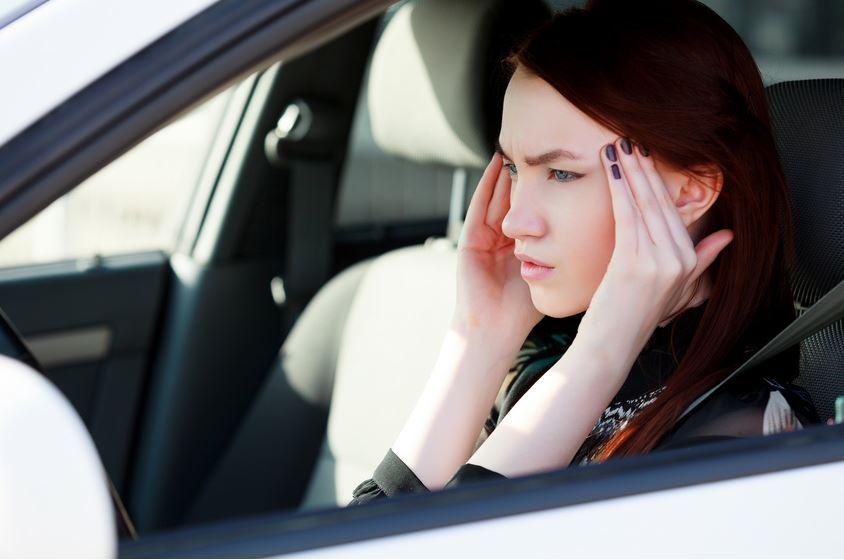 Malade en voiture