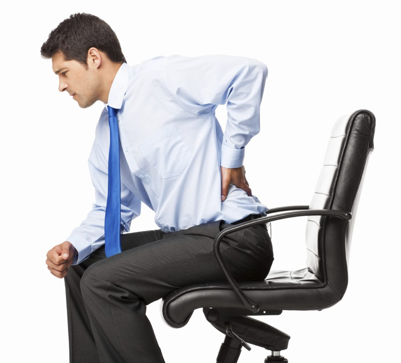 Businessman With Backache – Isolated